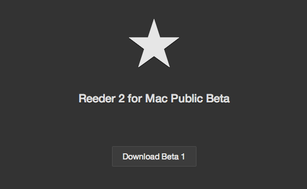 Reeder2 for Mac Public Beta