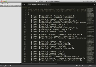 Sublime Text 3 Key bindings Default OSX sublime keymap 01