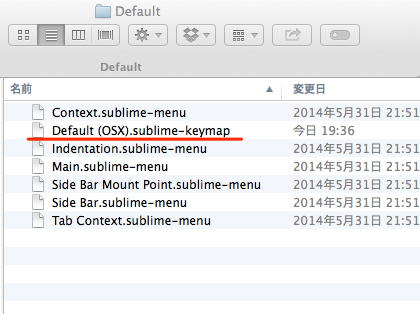 Sublime Text 3 Key bindings Default OSX sublime keymap 02