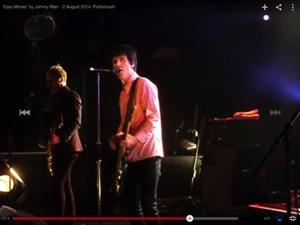 Johnny marr Easy Money youtube