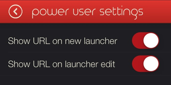 Launcher iOS App 10 settings