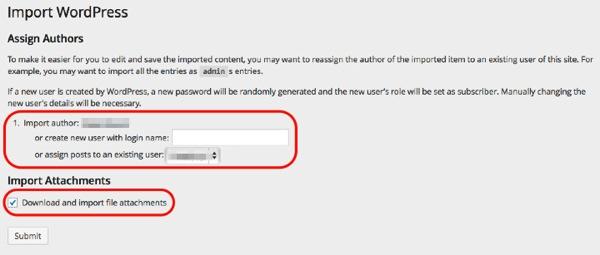 Wordpress import 05