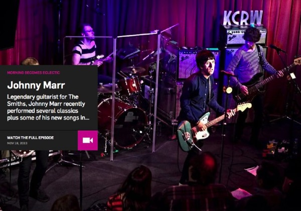 Johnny Marr Morning Becomes Eclectic KCRW