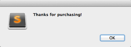 Sublime text thanks purchase