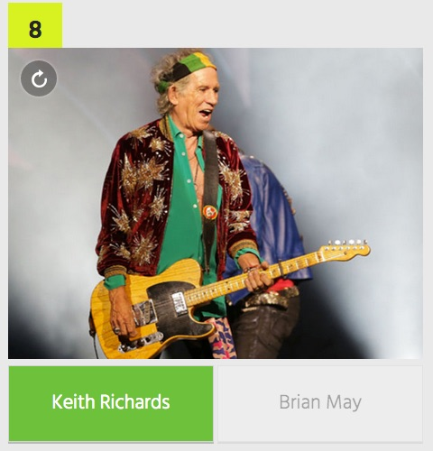 Apply guitarist only guitar and hand keith richards