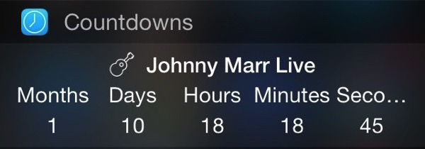 Johnny marr live countdown