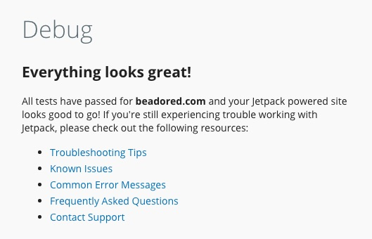 Debug Jetpack for WordPress