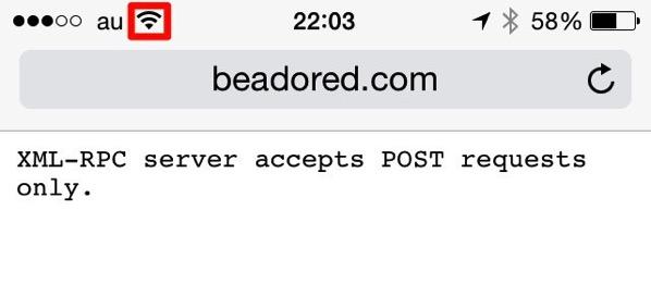 Access xmlrpc php wi fi