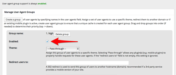 W3 total cache user agent groups