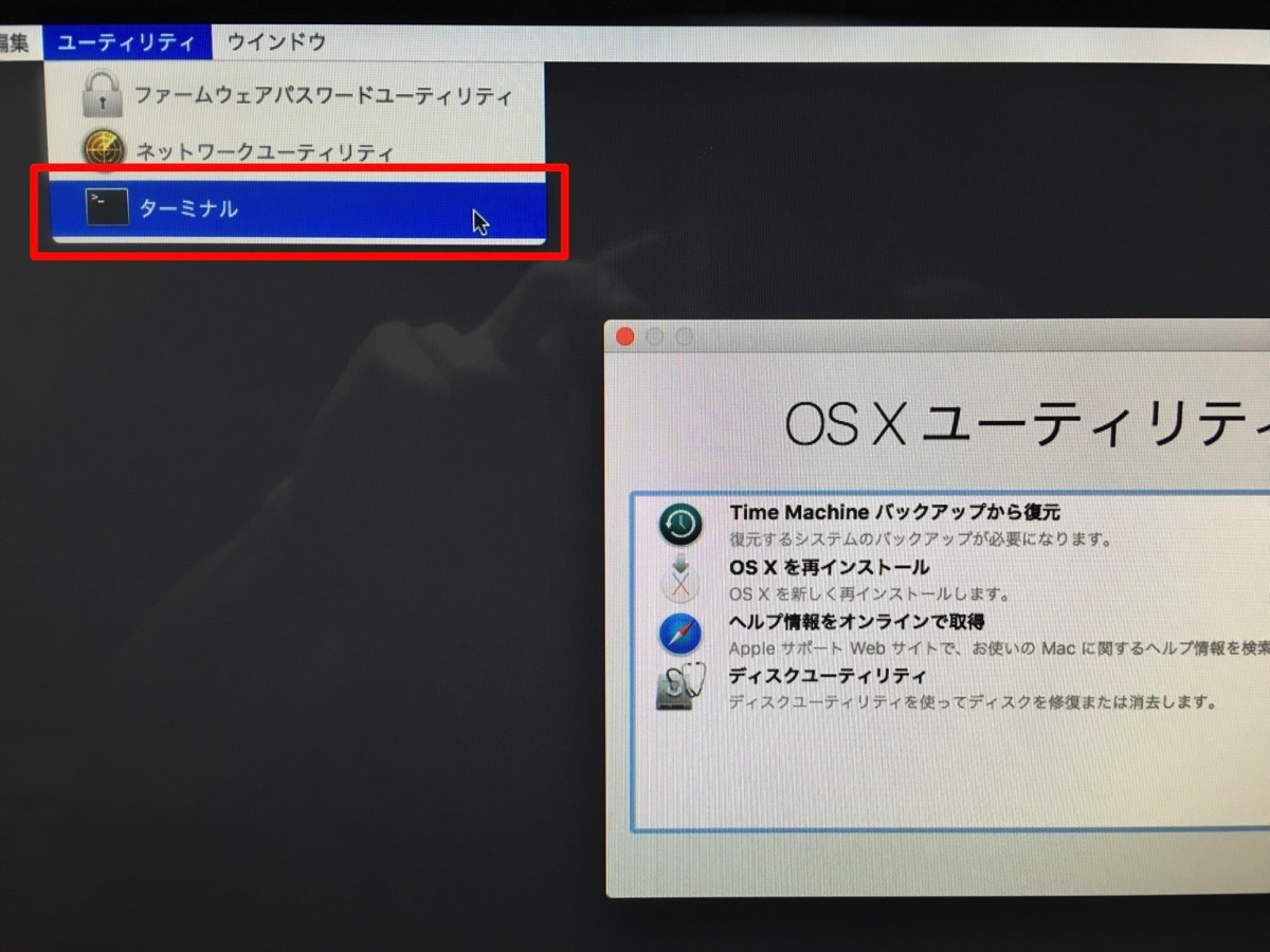 OSX Recovery Terminal