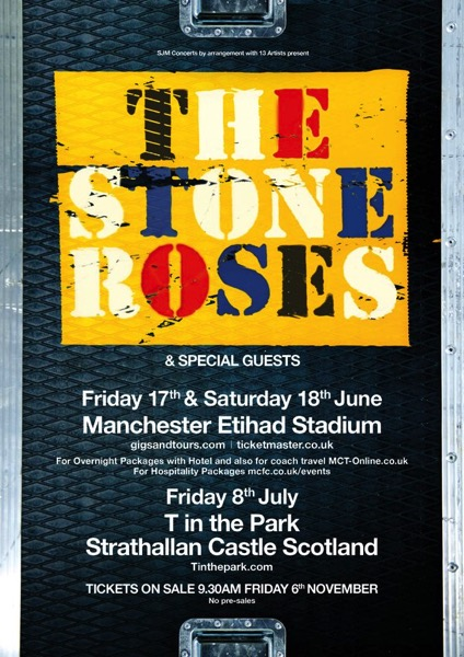 Stone Roses Live Etihad Stadium & T In the Park