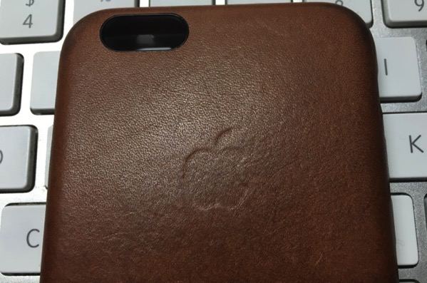 Apple leather case after four months