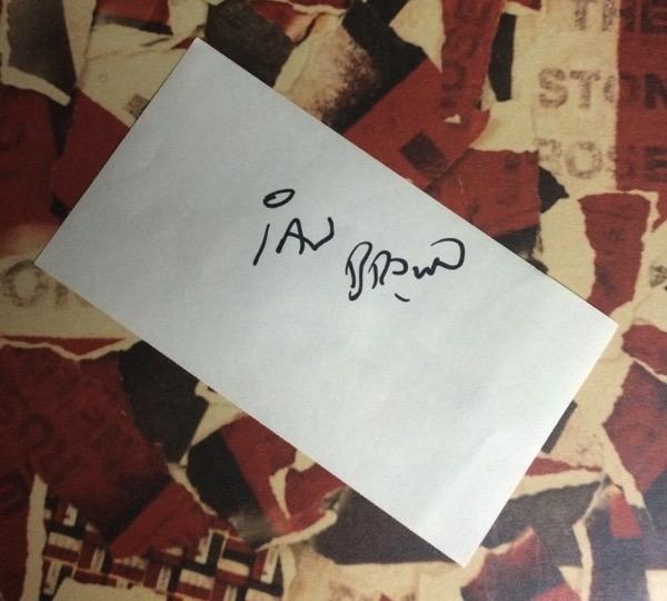 Ian Brown のサイン