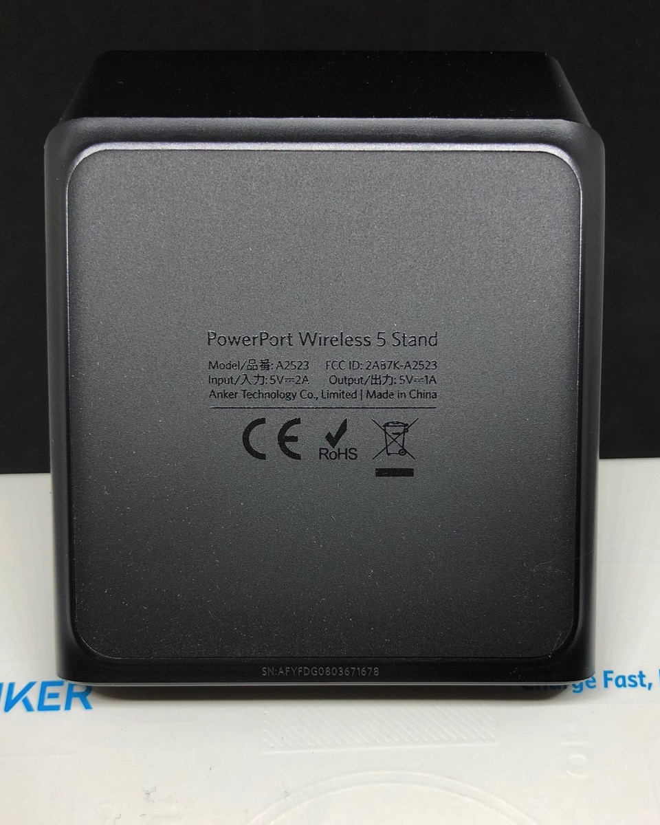 Anker powerport wireless 5 stand bottom